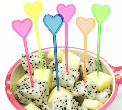 47 pcs flèche d/'amour maison salle à manger jetables en plastique alimentaire Gâteau Fruit Fork Picks