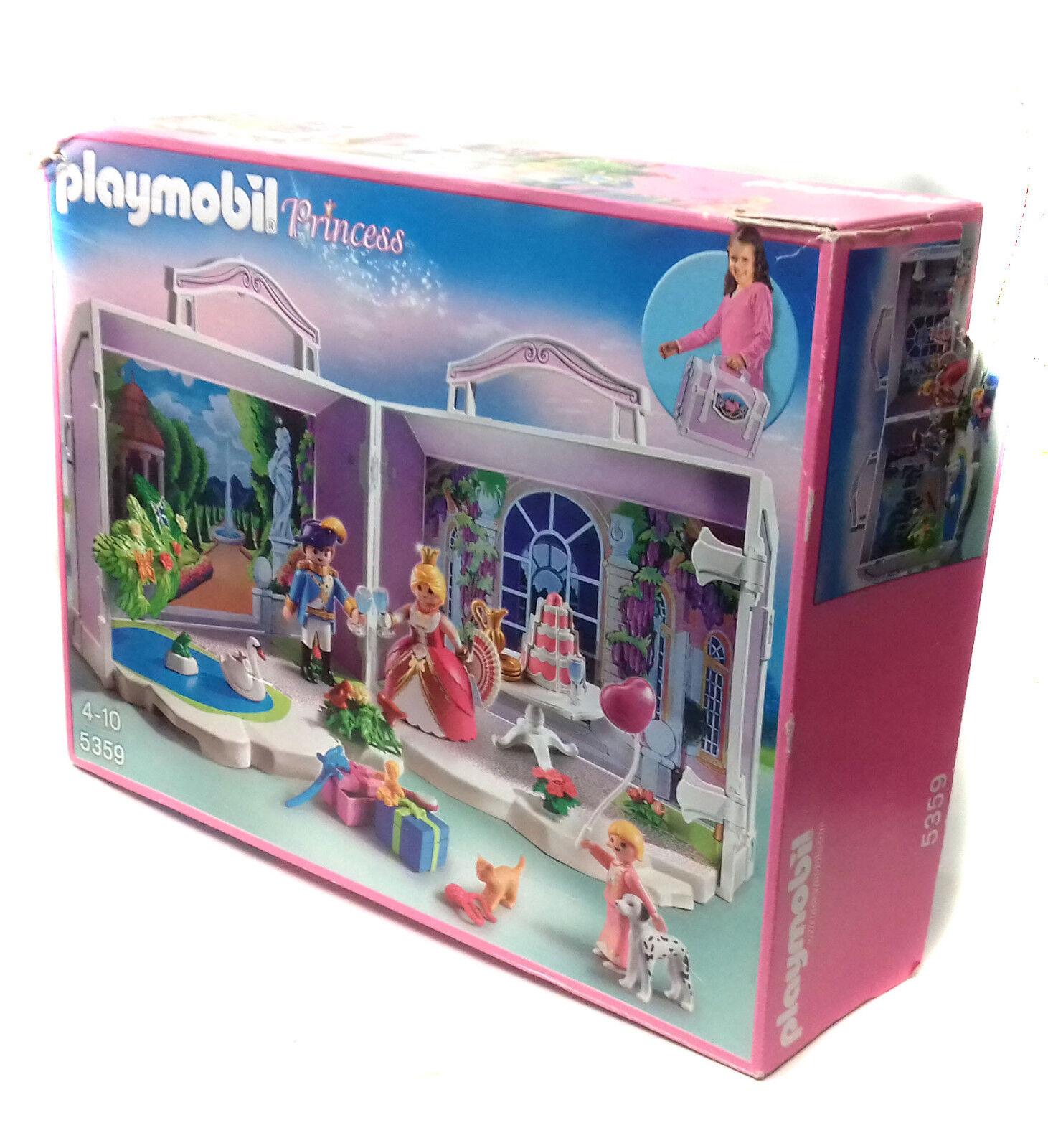 Playmobil 5359 Princess TAKE ALONG BIRTHDAY Opening Playset toy figures & box