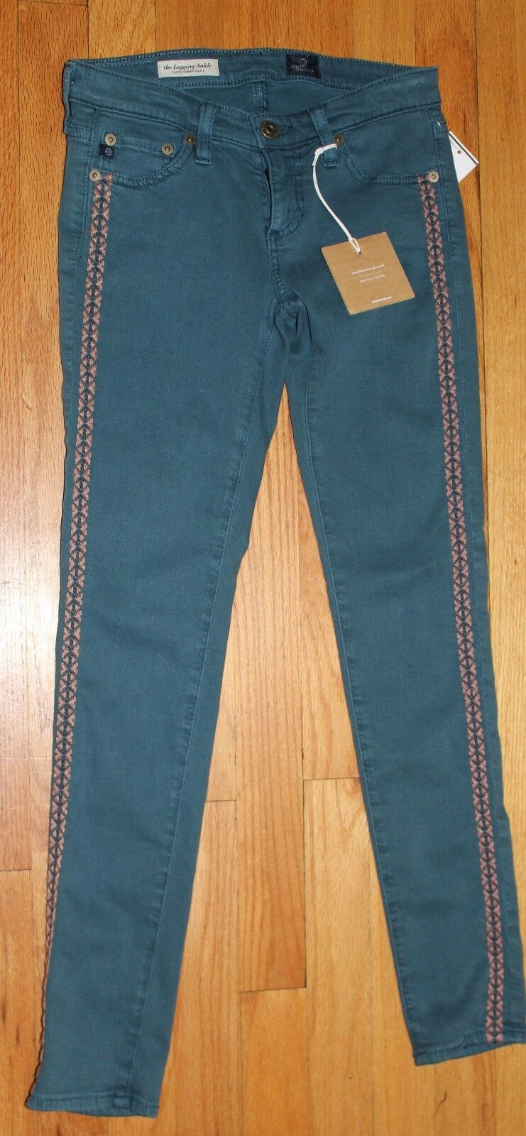 225 AG ADRIANO goldSCHMIED THE LEGGING SUPER SKINNY ANKLE JEANS SZ 24