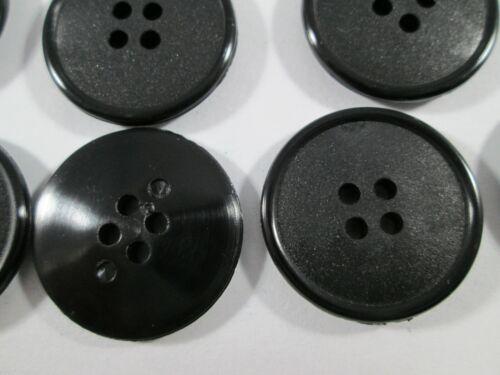 Botón botones 24 unidades negro 22,5 mm grande #3036#