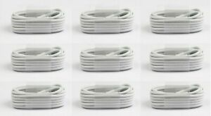 100x Wholesale Lot 5ft For Iphone 5 6 7 8 8Plus X MAX 11 Usb Charger Cord Cable