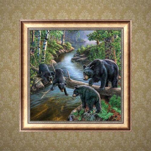 Brown Bear DIY 5D Diamond Painting Embroidery Animal Cross Stitch Home Decor