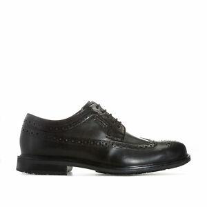 Homme-Rockport-Essential-Details-Wing-Chaussure-en-Noir-Fermeture-a-Lacets-a-detail
