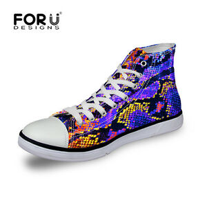 cool snake skin men's shoes fashion casual canvas sneakers