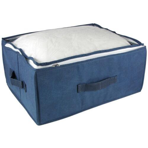 Aufbewahrungsbox faltbar mit durchsichtigem Deckel Reißverschluß /& Tragegriffen