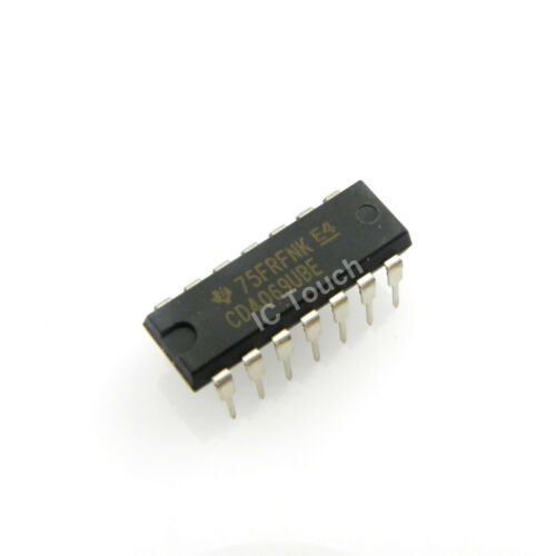 10pcs CD4069UBE IC CMOS Hex Inverter Texas Instruments PDIP-14
