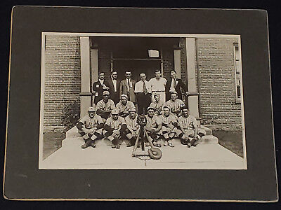 Baseball Team Canada Que Cabinet Photo Original Elegant Appearance 1920's Waterloo