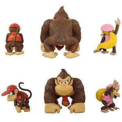 3x Super Mario big and small Chimp Figure Set