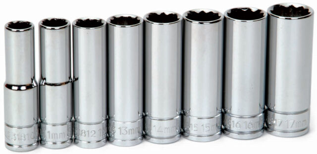 "10mm 12Pt Deep 3//8/""Drive Supertorque High Polished Chrome Socket 31810"