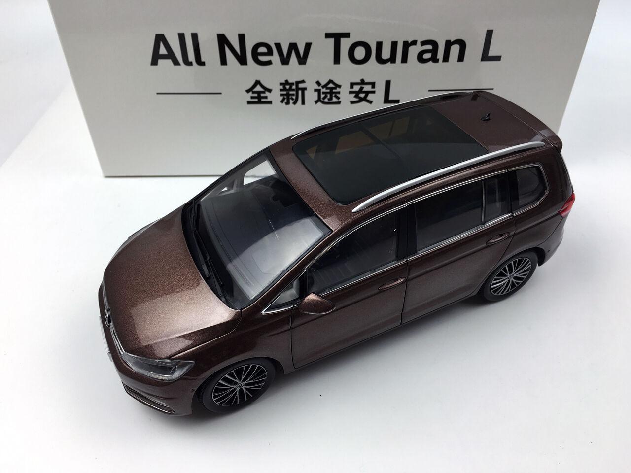 1:18 Shanghai Volkswagen All New Touran L Brown Die-Cast Metal Model
