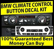 BMW AC CLIMATE CONTROL BUTTON KNOB OVERLAY STICKERS REPAIR SET