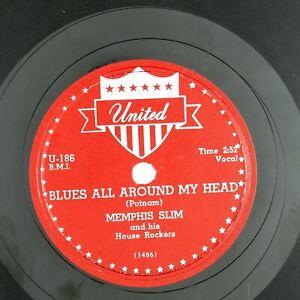 MEMPHIS-SLIM-Blues-all-Around-My-Head-Memphis-Slim-USA-10IN-1954-BLUES-VG-VG