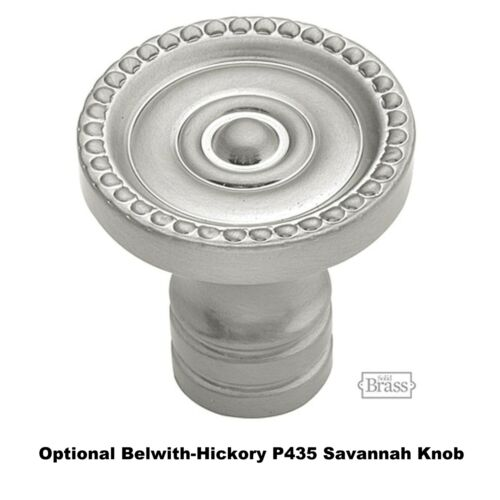 Solid Brass Hickory Satin Nickel P444 Savannah Backplate for Cabinet Knob