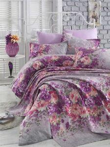 Bettwäsche 135x200 Cm Bettgarnitur Bettbezug Baumwolle Kissen 6 Tlg