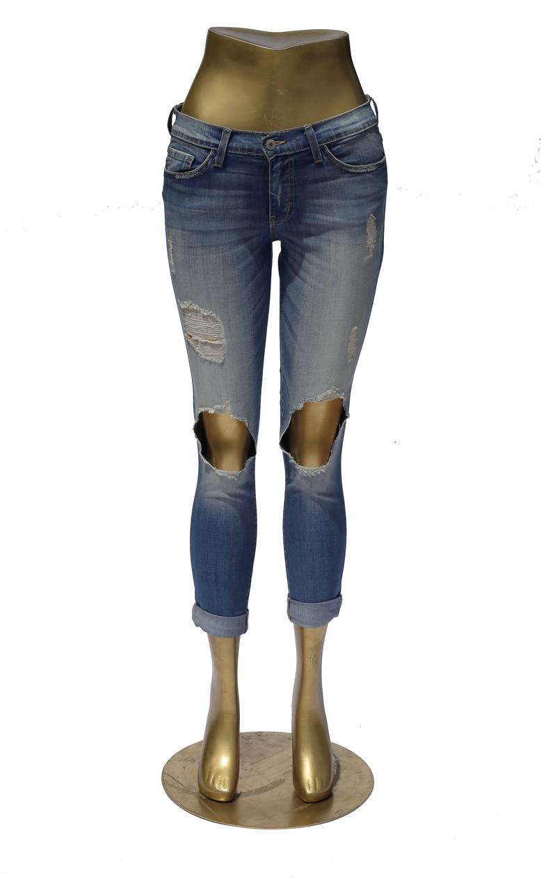 en volant Monkey Jeans A1011 Big Genou trous à revers Neuf avec étiquettes taille 29 in (environ 73.66 cm) Nouveau Neuf avec étiquettes