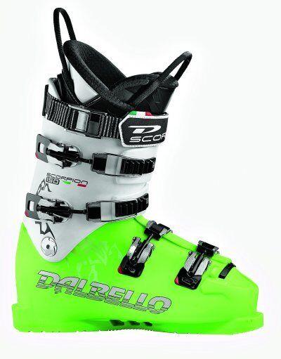 2013 Dalbello Scorpion WC LC S Race Ski Boots Lime White Size 4
