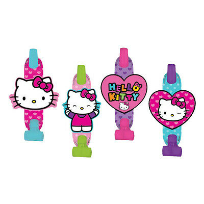 8 Hello Kitty Rainbow Childrens Birthday Party Loot Favor Treat Blowouts