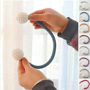 Neuf-Balle-Magnetique-Rideau-Boucle-Support-Embrasse-Clips-Fenetre-Maison