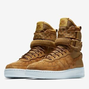 NIKE AIR FORCE 1 SF AF1 WOMEN S BOOTS SHOES SIZE US 7 WHEAT BROWN ... 74d1d79ced