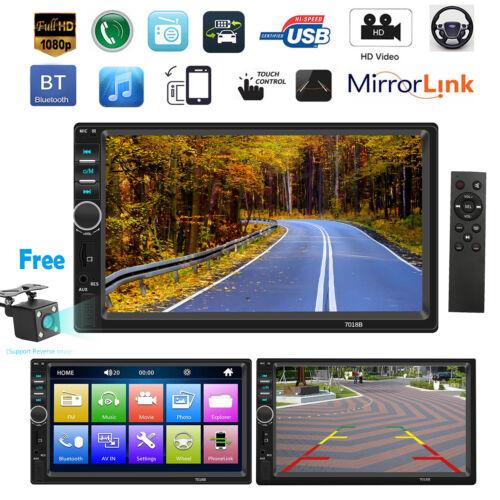 Cámara 7/'/' 2Din táctil pantalla Android Dash Audio MP5 reproductor HD FM Radio