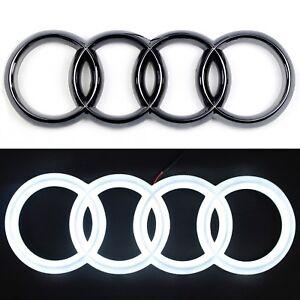 Audi Kühlergrill Emblem LED Weiß Auto Zeichen Beleuchtetes Logo - Audi car sign