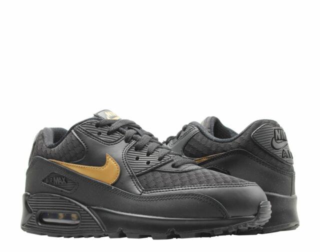 Nike Air Max 90 Essential Mens Av7894 001 Black Gold Running Shoes Size 13