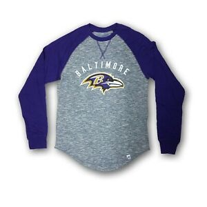 a929c92c5bf Details about Baltimore Ravens Men's Majestic Gray/Purple Long Sleeve T- shirt NWOT