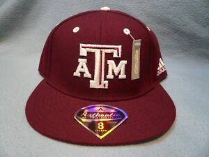 Adidas-Texas-A-amp-M-Aggies-on-field-BRAND-NEW-Fitted-hat-cap-TX-Football-Flat-Bill