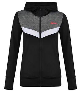 Details zu Ladies Women's New Slazenger Zip Fitness Jacket Sweatshirt Hoodie Coat Hoody
