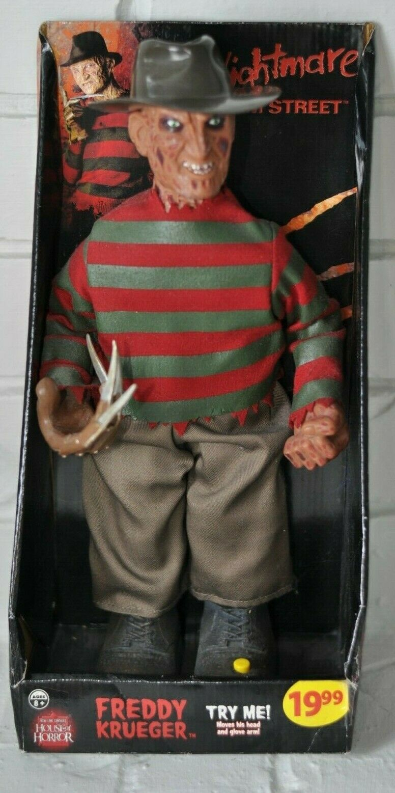 RARE haus OF HORROR FrotDY KRUEGER ANIMATED FIGURE BY GEMMY NEW