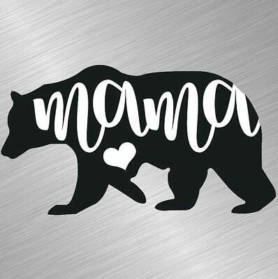 Mama Bear Vinyl Decal Sticker Car Truck Window Mom Mother Cub Cute Nature Laptop
