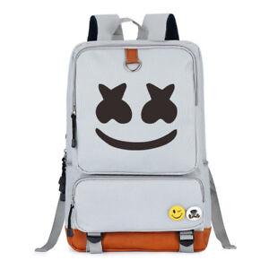 Marshmallow Cosplay Backpack DJ Marshmello Oxford Bag Unisex Schoolbag Ruckpack