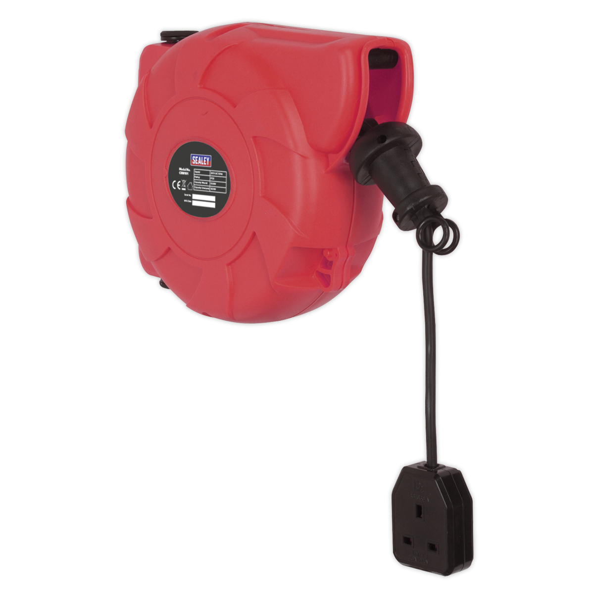 Cable Reel System Retractable 10m 1 x 230V Socket   SEALEY CRM101 by Sealey   Ne