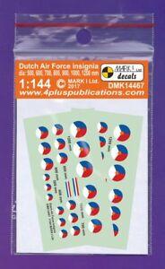 Mark I Decals 1/144 Dutch Air Force Insignia (2 Sets) #14467