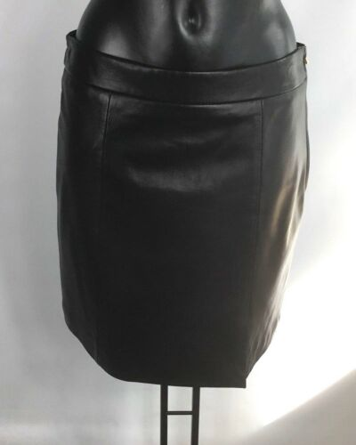 BOUTIQUE MOSCHINO LEATHER PENCIL SKIRT BNWT