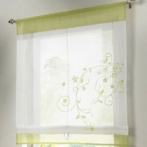 Details about Liftable Roman Blinds Voile Tab Top Sheer Kitchen Balcony  Window Curtains Hot S4