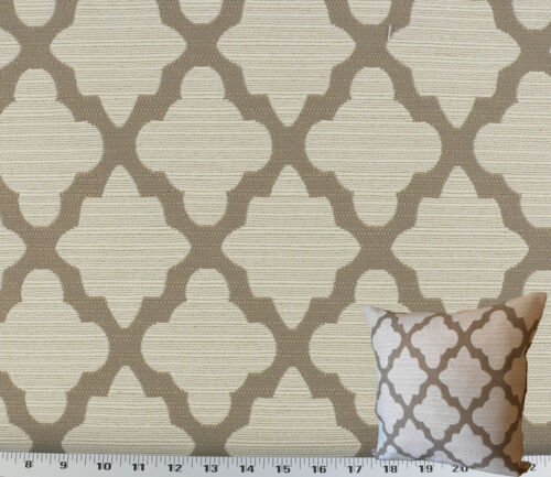 Drapery Upholstery Fabric Withstands 50K Double Rubs Rustic Texture Taupe