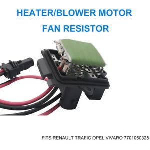 RENAULT-Trafic-Opel-Vivaro-Riscaldatore-SOFFIATORE-A-MOTORE-VENTILATORE-RESISTORE-7701050325