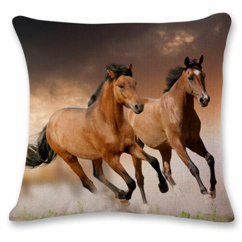 Cushion Horse Home Pillow Running Throw Cover Decor Pillowcase Bedding