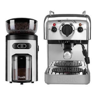 Details About Coffee Machine Burr Grinder Bundle Pods Capsule Espresso Maker Milk Frother