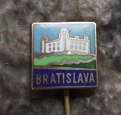 Bratislava Castle Slovakia Capital City Tourist Travel Souvenier Pin Badge