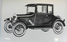 """12 By 18"""" Black & White Picture 1926 1927 Ford Model T Coupe artist rendering"""