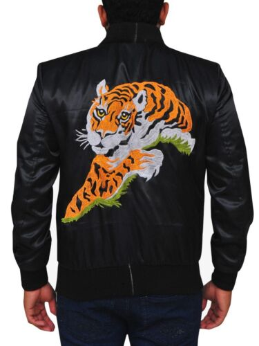 Rocky 2 Tiger Logo Satin Jacket with Free Shipping