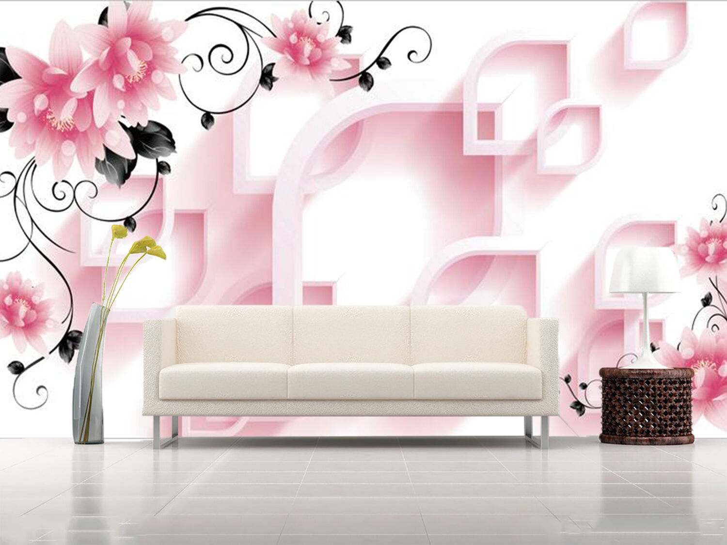 3D Flowers, shape 4576 Wall Paper Wall Print Decal Wall Deco Indoor Wall Murals
