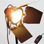 thumbnail 2 - 800W Dimmable Continuous Red Head Studio Light Video Redhead Lighting & Dimmer