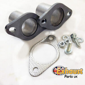 """63.5mm 2.5"""" Exhaust Flanges Repair Joint with Gasket & Bolts Pipe Repair Section"""