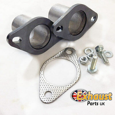 "57mm 2.25"" Exhaust Flanges Repair Joint with Gasket & Bolts Pipe Repair Section"