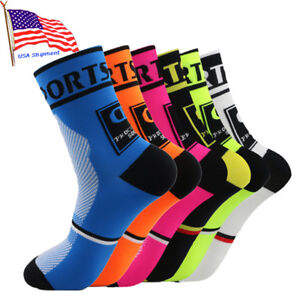 Men-Women-039-s-Compression-Socks-Athletic-Running-Riding-Cycling-Breathable-Socks