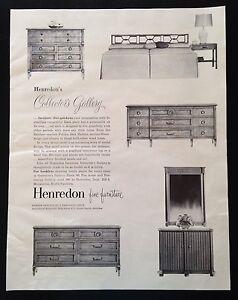 1960 Henredon Furniture Bedroom Set Dresser Nightstand 6 Style Vintage Print Ad Ebay