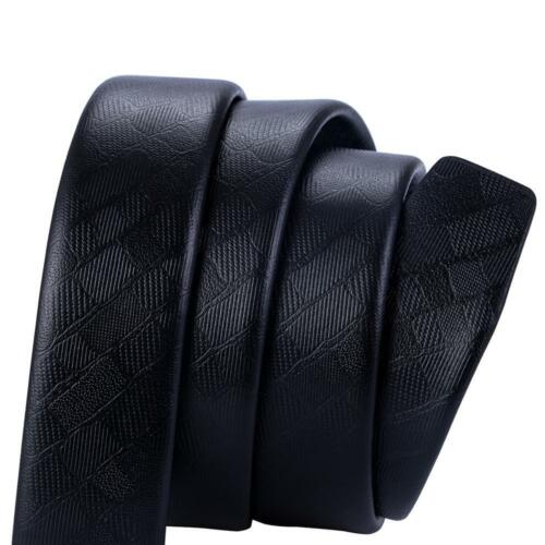 Black Leather Mens Replacement Belts Large Size 110cm to 160cm Ratchet Belt Gift